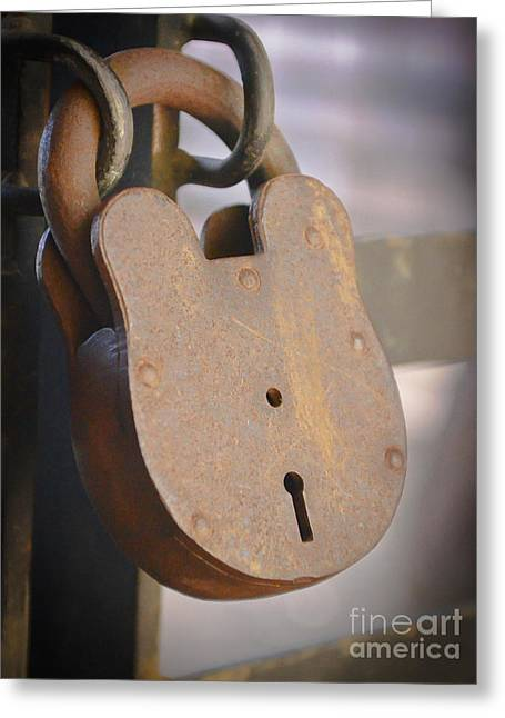 Locked Greeting Card by Kevin Felts