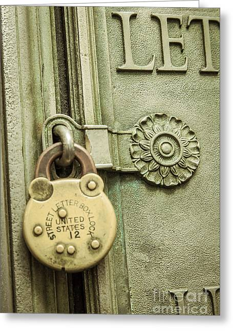 Locked Greeting Card by Lee Wellman