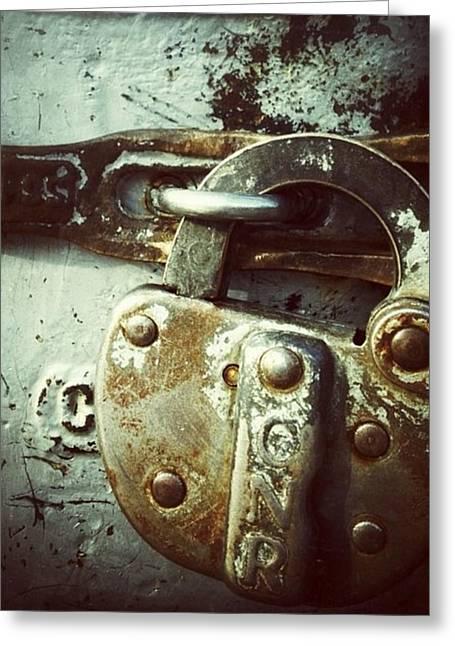 Locked Greeting Card by Nathalie Longpre