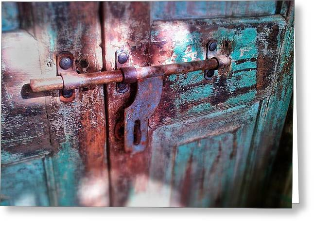 Locked Greeting Card by Olivier Calas