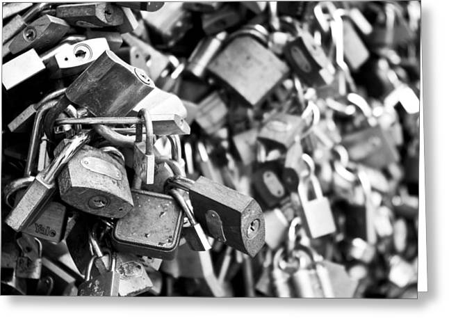 Locked Together Greeting Card by Gabor Fichtacher