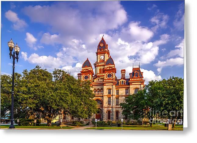 Lockhart Courthouse - Lockhart Texas Greeting Card by Silvio Ligutti