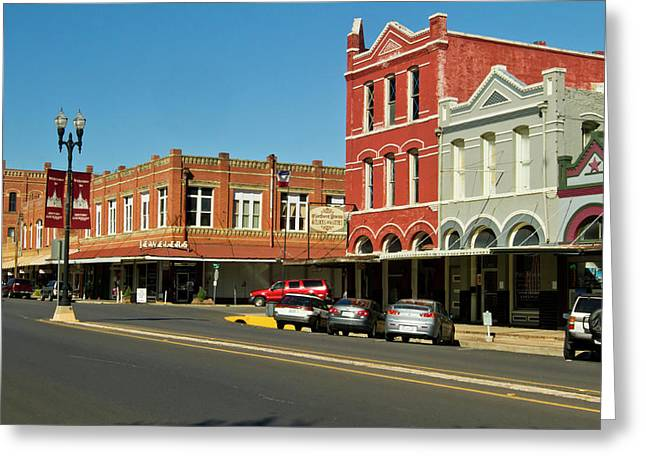 Lockhart, Texas Main Street Greeting Card by Larry Ditto