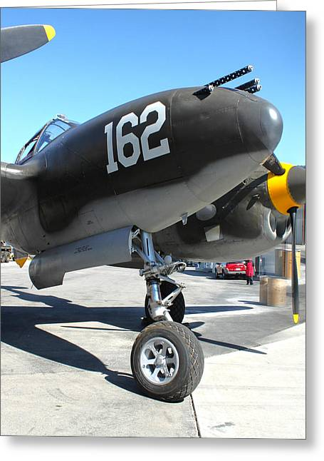 Lockheed P-38 - 162 Skidoo - 01 Greeting Card by Gregory Dyer