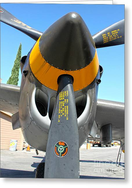 Lockheed P-38 - 162 Skidoo - 02 Greeting Card by Gregory Dyer