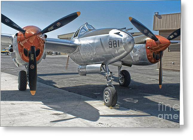 Lockheed P-38l Lightning Honey Bunny  - 01 Greeting Card by Gregory Dyer