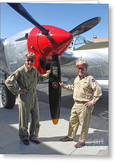 Lockheed P-38l Lightning Honey Bunny  - 04 Greeting Card by Gregory Dyer