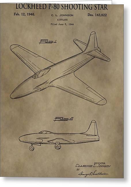 Lockheed P-80 Patent Greeting Card