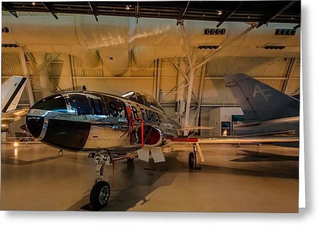 Lockheed T-33a Shooting Star Greeting Card by Randy Scherkenbach