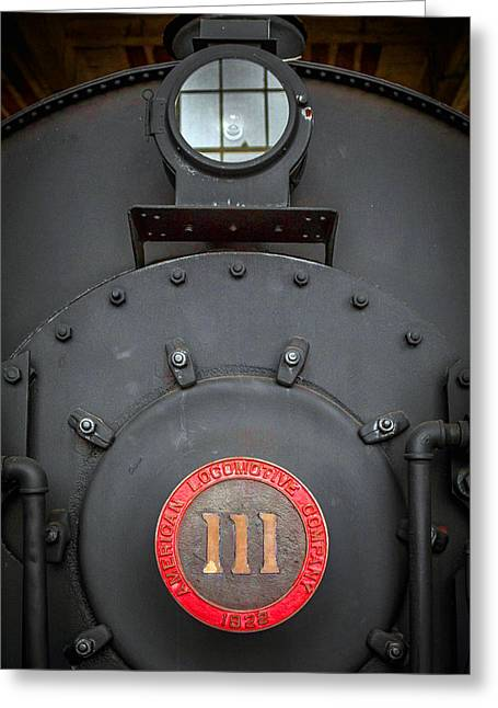 Greeting Card featuring the photograph Locomotive 111 by Marion Johnson