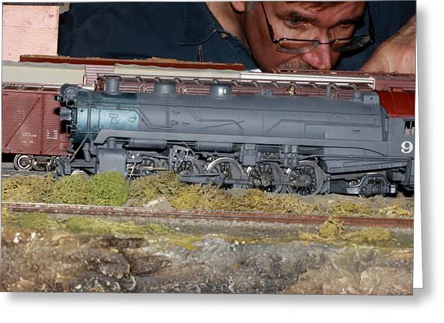 Locomotive 91 Greeting Card by Hugh McClean