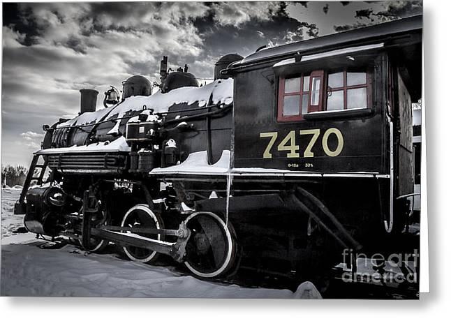 Locomotive Greeting Card by David Rucker