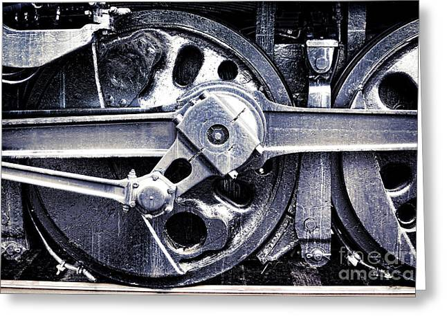 Locomotive Drive Wheels Greeting Card