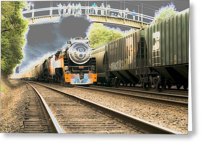 Locomotive Engine 4449 Greeting Card