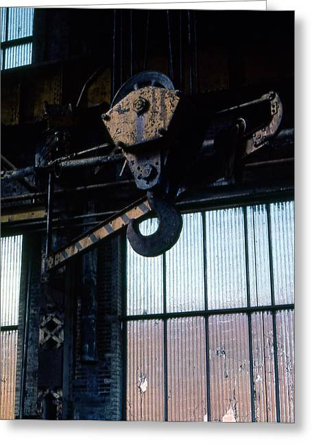 Locomotive Hook Greeting Card by Richard Rizzo
