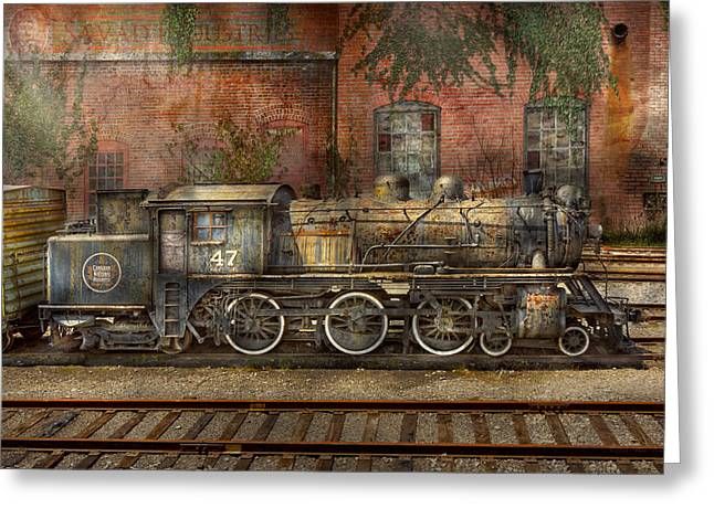 Locomotive - Our Old Family Business Greeting Card by Mike Savad