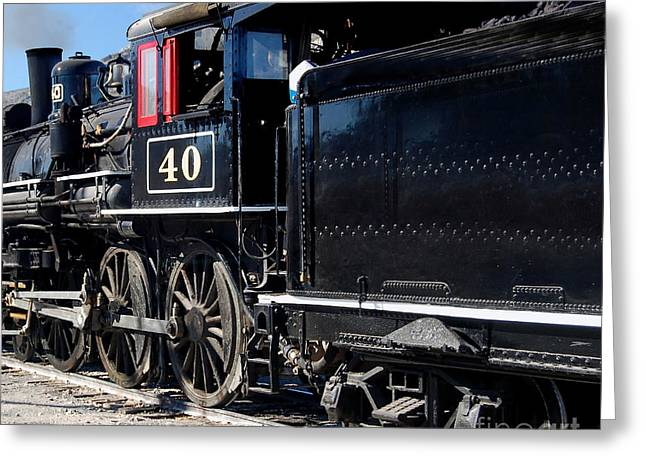Greeting Card featuring the photograph Locomotive With Tender by Gunter Nezhoda