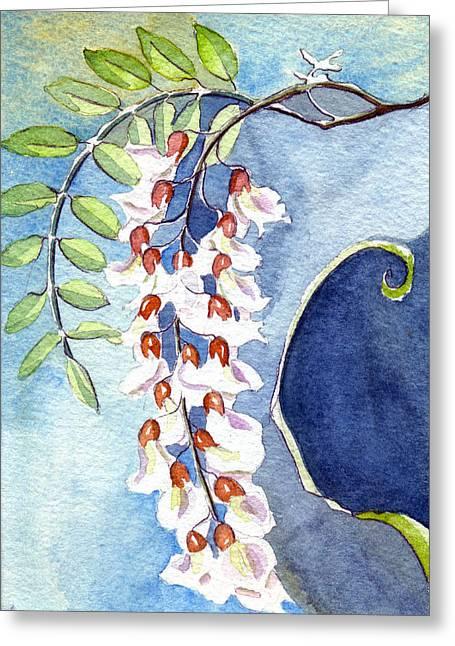 Locust Bloom Greeting Card