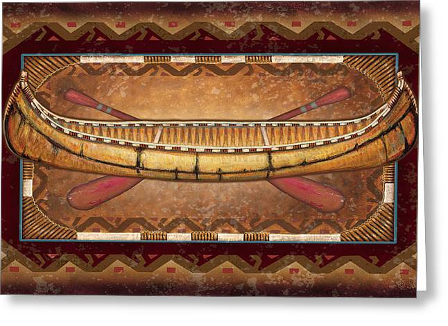 Lodge Canoe Greeting Card by JQ Licensing