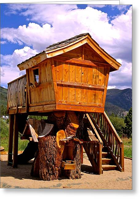 Log Cabin Penthouse Greeting Card by Jeff Gater
