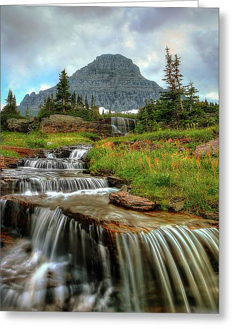Logan Cascades Greeting Card