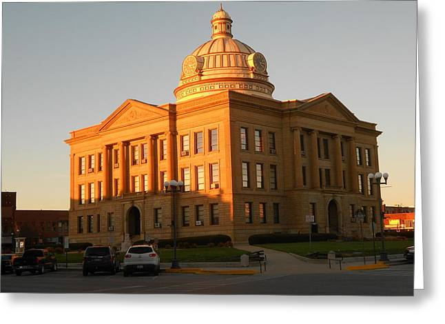 Logan County Courthouse  Lincoln Greeting Card