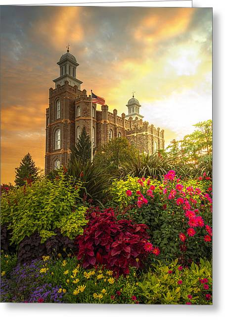 Logan Temple Garden Greeting Card