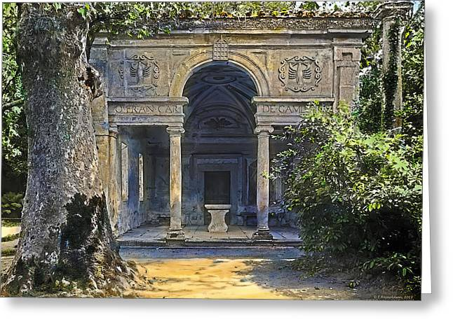 Loggia Of The Muses Greeting Card by Terry Reynoldson