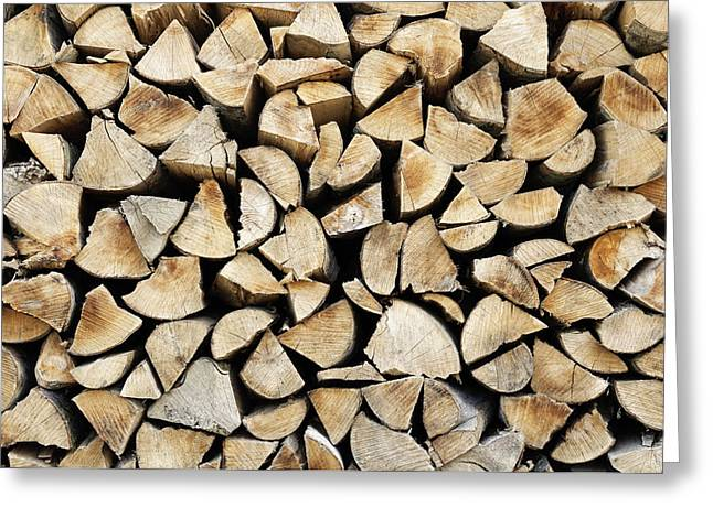 Logs Background Greeting Card