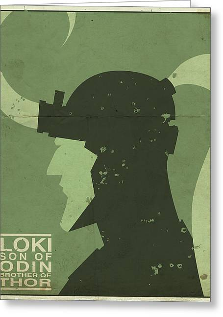 Greeting Card featuring the digital art Loki - Son Of Odin by Michael Myers