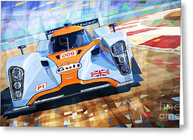 Lola Aston Martin Lmp1 Racing Le Mans Series 2009 Greeting Card