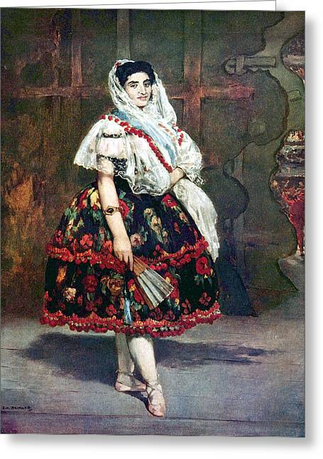 Lola Of Valencia Greeting Card by Edouard Manet