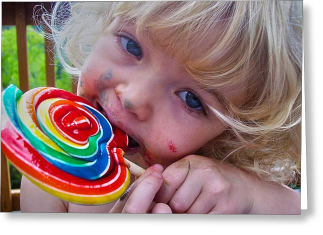 Greeting Card featuring the photograph Lollipop Bliss by Lanita Williams