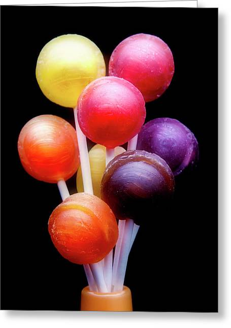 Lollipop Bouquet Greeting Card by Tom Mc Nemar