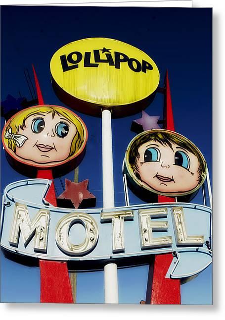 Lollipop Motel Greeting Card