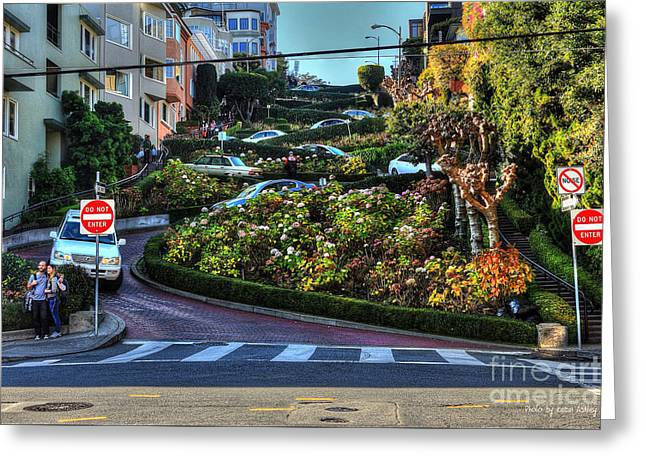 Lombard Street  Greeting Card by Kevin Ashley