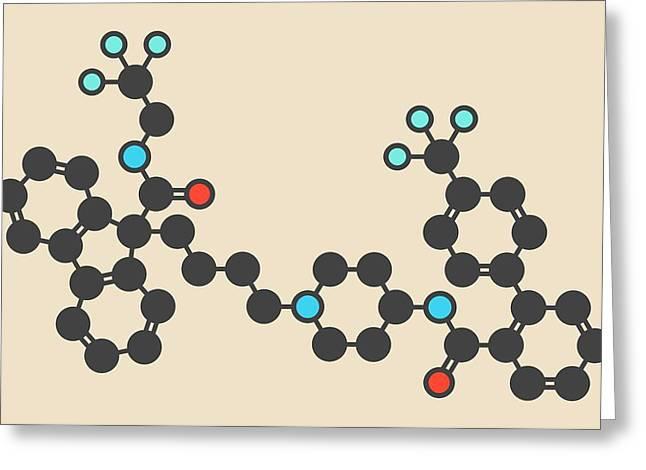 Lomitapide Cholesterol Drug Molecule Greeting Card by Molekuul