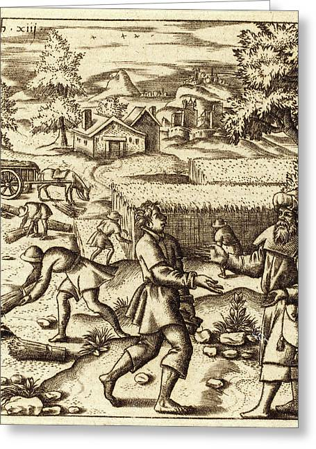 Léonard Gaultier, French 1561-1641, Parable Of Weeds Greeting Card by Litz Collection