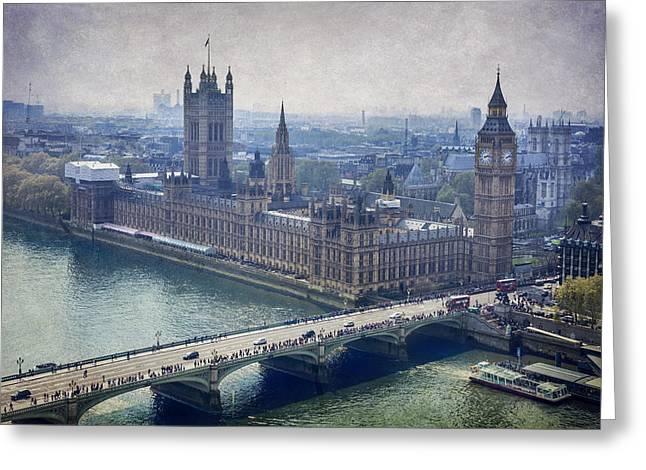 London Greeting Card by Alfio Finocchiaro