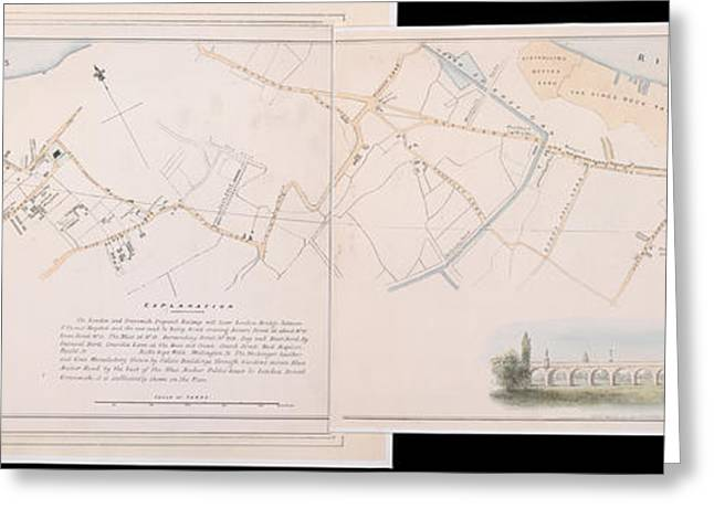 London And Greenwich Railway Greeting Card by British Library