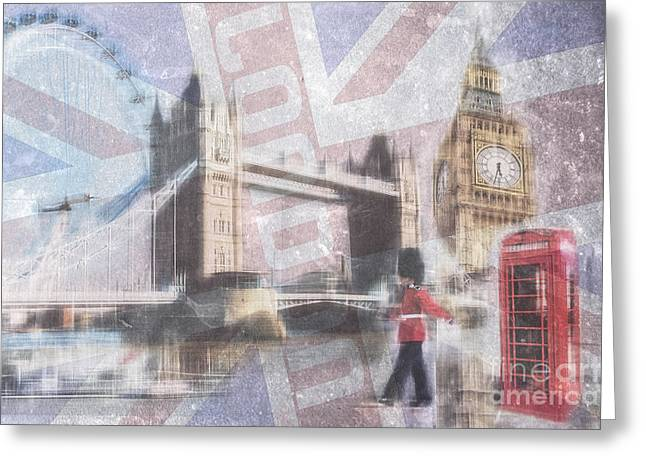 London Blue Greeting Card