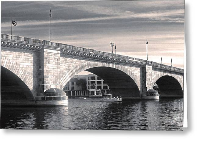 London Bridge Panorama Greeting Card by Gregory Dyer