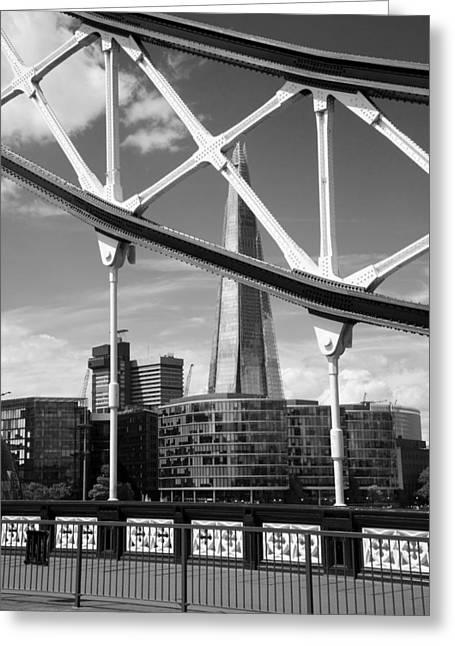 London Bridge With The Shard Greeting Card by Chevy Fleet