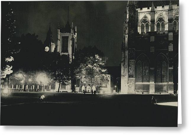 London Buildings Flood-lit Once Again� Greeting Card by Retro Images Archive
