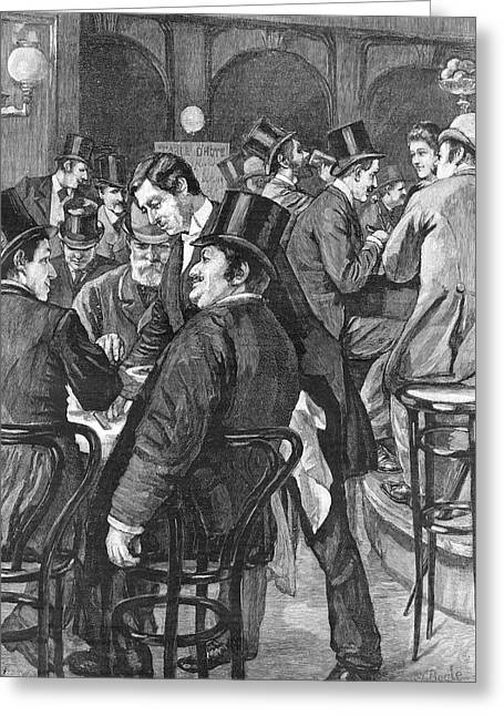 London Businessmen At Lunch, 1891 Greeting Card by  Illustrated London News Ltd/Mar