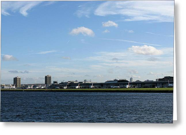 Greeting Card featuring the photograph London City Airport by Helene U Taylor