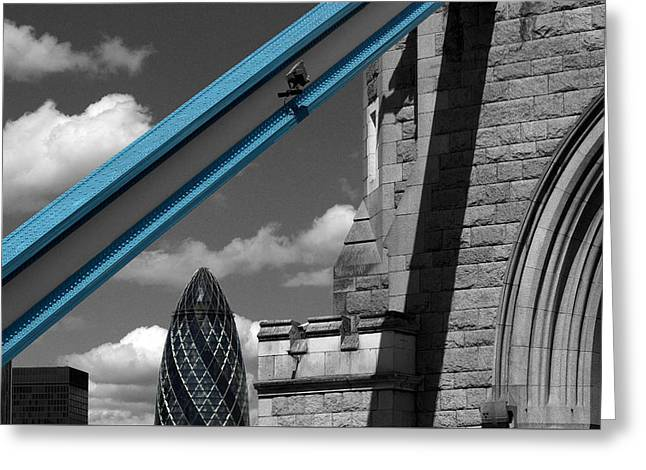 London City Frame Greeting Card
