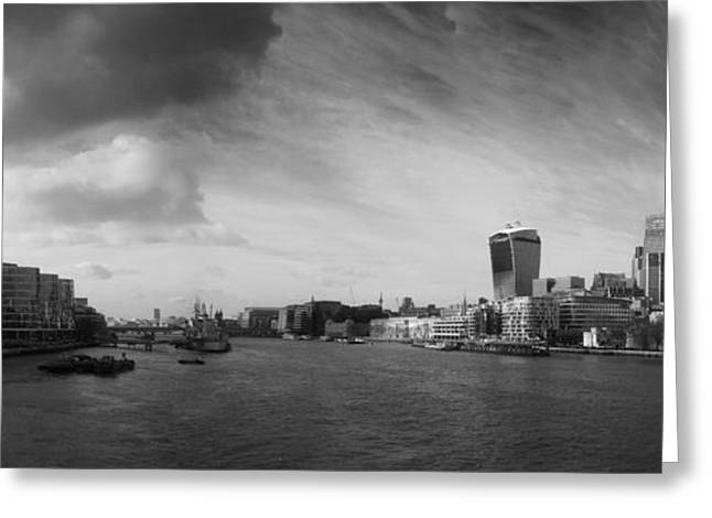 London City Panorama Greeting Card by Pixel Chimp