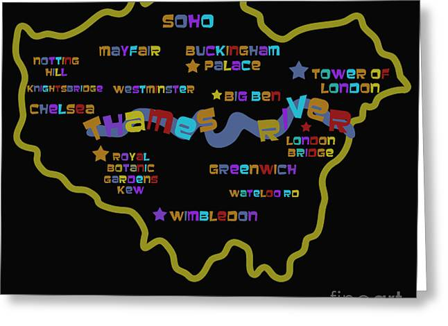 London Greeting Card by Dan Hilsenrath