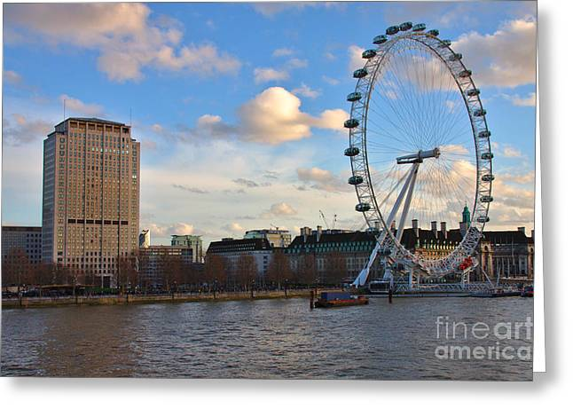 London Eye And Shell Building Greeting Card